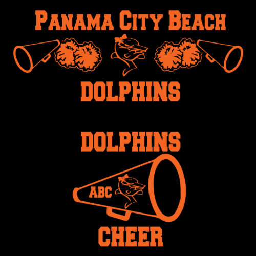 Dolphins-Cheer-Decals Apparel Made Custom T Shirts for Sports Teams