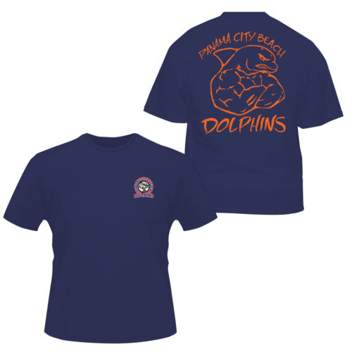 PCB-DOLPHINS-MEAN-DOLPHIN-SHIRT Apparel Made Custom T Shirts for Sports Teams