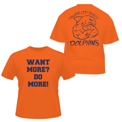 Want-More-Do-More-T-Shirt Apparel Made Custom T Shirts for Sports Teams